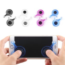 Wholesale Mobile Phone Hands Free - Mobile Games Joystick Games Artifact Tablet Phone Android Hand Travel Button Sucker King Glory Free Shipping 0801049