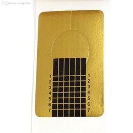 Vente en gros-spécial! 100 x Golden Nail Art Conseils Extension Guide des formulaires Français DIY Outil Acrylique UV Gel ? partir de fabricateur