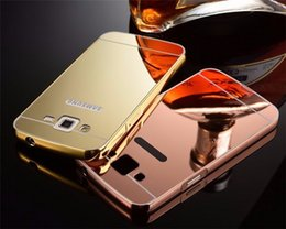 Wholesale Case Duos - Luxury For Samsung Galaxy Grand 2 Duos G7106 G7102 Aluminum Metal Frame Mirror Acrylic Back Cover Case Phone Protective
