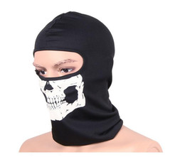 Wholesale Tactical Airsoft Helmets Wholesalers - Tactical Masks helmet Airsoft Wargame Breathable Dustproof Face Balaclava Unisex headgear Motorcycle Ski Cycling Hunting skull head Hood