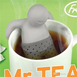 Wholesale Teapot Infuser Strainer - Mr.Tea Infuser Strainers Filter Unique Cute Tea Strainer, Interesting Life Partner Cute Mr Teapot Silicone Tea Infuser Filter Teapot Drinkw