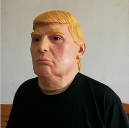 Wholesale White Halloween Masks - Wholesale masquerade masks USA President Candidate Mr Trump Latex Mask Latex Face Mask Billionaire Presidential Donald Trump Latex Mask