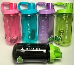 Wholesale Outdoor Sports Multicolor Herbalife Shake Water Bottle Tritan Nutrition ML OZ Camping Portable Large Capacity Black Pink Blue Bottles