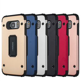 Wholesale Iphone5 Package - For iPhone5 6G Plus iPhone7 7plus MOTOMO 2in1 Hybrid Slim Amor Cellphone Case BackCover Shockproof TPU+Metal Shell Without Package
