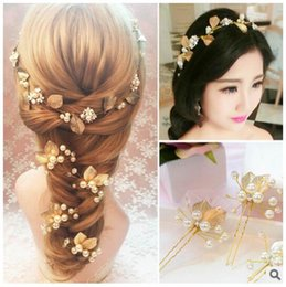 Wholesale Belly Dance Head Jewelry - gold-color hairbands wedding tiara wedding crown 29cm headbands bridal hair accessories head jewelry wedding hair accessories