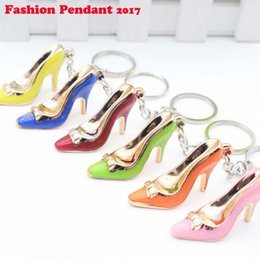 Wholesale Trendy Bags For Men - Shoes Keychain Purse Pendant Bags Cars Shoe Ring Holder Chains Key Rings For Women Gifts Women acrylic High Heeled