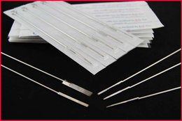Wholesale 50 Tattoo Needles Conventional Plain Single row straight F F F needle Tattoo beauty equipment for Beauty Makeup