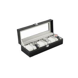 Wholesale Wrist Watch Case Box - 2016 Hot Sale 6 Grid Luxury Refinement Slots Wrist Watches Gift Case Jewelry Display Boxes Storage Holder Organizer Quality PU