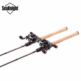 Wholesale Combo Reel - Wholesale- SeaKnight Rod Combo Bait Casting Reel VIPER 11+1BB Fishing Gear+ LEC Casting Rod 2.1M 2.4M Fishing Rod Lure Weight 1 4-3 4oz