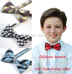 Wholesale Baby Boy Wedding Formal - Wholesale- Boys Pre-tied Adjustable Bowtie Bow Tie Baby Children Formal Tuxedo Bow Ties With Wedding Party Necktie Free Shipping 5 pcs