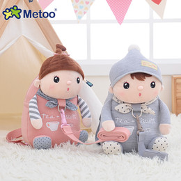 Acheter en ligne Sacs à bandoulière enfants-Metoo sac à dos en peluche pour animaux de bande dessinée avec ceinture de traction Cute Kids Doll Lovely Stuffed Toys Children Kindergarten Shoulder Bag cadeaux pour bébés
