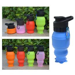 bottiglia piegata Sconti 530ml Silicone Camping Pieghevole Tazza di acqua Bottiglie da viaggio Outdoor Camping Escursionismo Tazza pieghevole portatile pieghevole bottiglia
