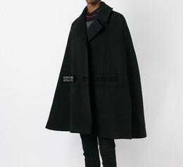 новая зимняя одежда для мужчин Скидка Оптовая продажа-настроить стиль новая мода мужчины мыс пальто свободные длинные шерстяные пальто шерстяная ткань толстые пальто осень зима одежда