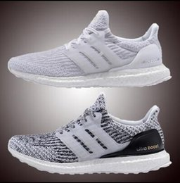 Wholesale Brown Black White - Ultra Boost 3.0 4.0 Triple Black and White Primeknit Oreo CNY Blue grey Men Women Running Shoes ultraboost sport Sneaker 36-45