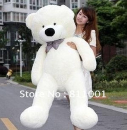 Wholesale Large Plush Bears - Wholesale- On Sale!!! Teddy bear cuddly toy large hold pillow doll embrace bear doll plush bear doll lovers gifts Large size 120cm