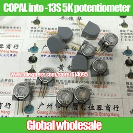 Wholesale 5k Potentiometer - Wholesale- 2pcs Japan COPAL into -13S 5K adjustable potentiometer   variable resistor
