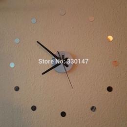 Gros-bricolage montre Home Decor petit rond acrylique miroir autocollant Simple Temps beauté auto-adhésion Muet 3D Horloge murale ? partir de fabricateur