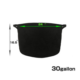 Wholesale Grow Pots Wholesale - 30 Gallon Black Grow Pots With Handles Grow Tub Raised Bed GROWBAG Bring The Garden Closer To You