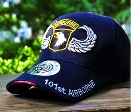 Wholesale Wholesale Trucker Snapback Hats - NEW Baseball Cap Men Women Snapback Fitted Air Force US 101 Airborne Golf Sports Hat Cap Outdoors Travel Trucker Hats AA359