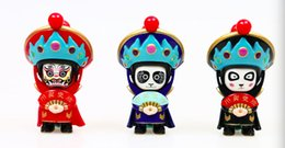 Wholesale Tang Dynasty Wholesale - China opera mask-changing toys Chinese traditional culture doll face changing decoration Chinese special gift Christmas presents