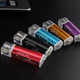 lector de tarjetas de memoria mini multi one Rebajas Alta calidad Todo en uno Lector de tarjetas Portátil Mini Multi en uno Lector de tarjetas de memoria Adaptador Conector Para Micro SD MMC SDHC TF M2 Memory Stick