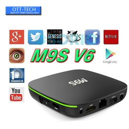 Wholesale Internet Games - M9S Android Smart OTT TV BOX M9S V6 Quad core Internet IPTV Box 1GB 8GB WIFI Internet Game Streaming Box support HDMI H.265 movie free