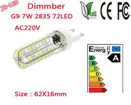 Wholesale Bright Halogen Bulbs - Wholesale- 2pcs AC220V SMD 2835 G9 LED 7W Dimmber LED Corn Light Bulb Super bright 360 Replace 50W Halogen Lamp mini candle spotlight