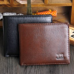 Wholesale Cheap Leather Wallets Men - Men's Cheap Synthetic PU Leather Wallet High Quality Money Pockets Credit ID Cards Holder Purse