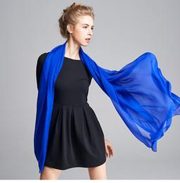 Wholesale Silk Wrap Robe - Solid Color Silk Scarf Shawls Long Length Beach Towel Silk Robe Cape Wrap Cool Shade Ride Vocation Elegant A103