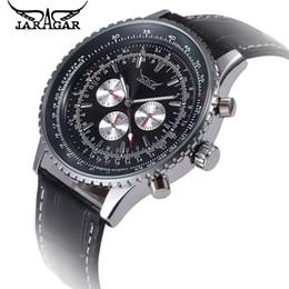 Wholesale jaragar stainless steel mechanical watch - 2017 JARAGAR Relogio Masculino Big Dial Men 6 Hands Auto Mechanical Watches Day 24Hours Week Men's Watch Free Shipping