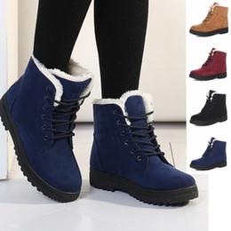 Wholesale Short Boots Blue - Classic Women's Snow Boots Fashion Winter Short Boots fashion snow shoes Velvet shoes women ankle boots