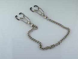 Pinces à tétons réglables en métal en Ligne-Pinces à mamelon réglables avec des pinces à chaîne en métal Nipples Labia clips pince à clitoris Bodnage Fétiche Sex Toys pour Couple BDSM Adult Game