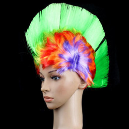 Wholesale Synthetic Wigs For Men - Synthetic Hair Women Men Mohawk Fashion Mohican Hairstyle Costume Cosplay Punk Party Wigs for Halloween Christmas Decorations