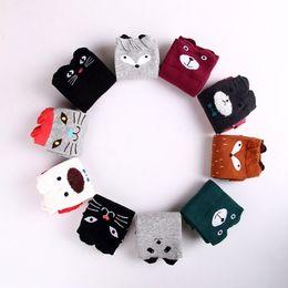 Wholesale Cute Animal Socks - Wholesale Fashion unisex cartoon Animal leg warmers socks baby girls & boys knee high Totoro Panda Fox socks kids cute Striped Knee socks
