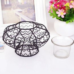 Wholesale Wire Home Decor Wholesale - Pumpkin With Barbed Wire Candle Holder Tea Light Holder European Style Halloween Decor Wholesale Candle Holders Tableware Accessories