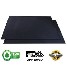 Wholesale Heat Gas - BBQ Grill Mat Non Stick Pad for Gas Easy Bake Cook Grate Cover 13 Inchesx15.75 Inches 42g FDA in stock