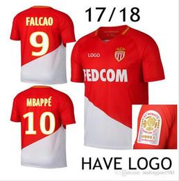 Wholesale Monaco Red - Monaco Jersey 17 18 MBAPPE home red SILVA LEMAR FABINHO GLIK CARRILLO thai quality 2017 2018 monaco home Football Shirt 2017