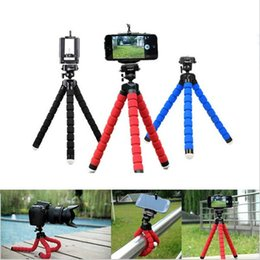 Wholesale Wholesale Camera Stands - Wholesale-Hot Sale Car Phone Holder Flexible Octopus Tripod Bracket Selfie Stand Mount Monopod Styling Accessories For Mobile Phone Camera