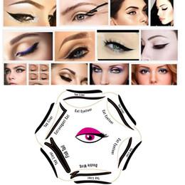 2019 eyeliner guide 6 in1 Stencils Gabarit Chat Eyeline Pochoir Chat Eyeliner Pochoir Outils De Maquillage Modèles Modèle Eyeliner Guide Outil En Stock WX-B60 eyeliner guide pas cher