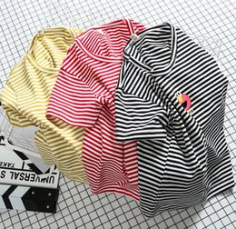 Wholesale Girls Korean Smile - 2017 summer style children's clothing, Korean men's and girls' T-shirts, new fashions, children's fashionable stripes, smiling faces, childr