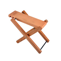 Wholesale Guitar Natural - Classical Guitar Wood Pedal Guitar Foot Rest Professional Folding Wood Footstool Pedal- Natural wood