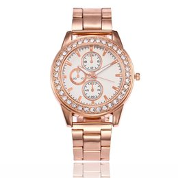 Wholesale Gold Watch Diamonds Cheap - smart woman fashion casual michael cheap plastic bracelet watch The new alloy steel ladies watch full diamond simple scale quartz watch