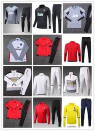 Wholesale Martial Clothe - NEW TOP quality 17-18 new 10 IBRAHIMOVIC soccer MEN long sleeve training clothes, 9 LUKAKU, 6 POGBA, 19 RASHFORD, 11 MARTIAL football