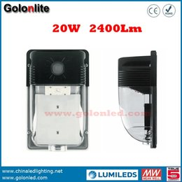 Wholesale Selling Lights China - China golden supplier Hot sell 120-277V photocell sensor wall mounting 120Lm W 2400Lm 20W LED wall pack lighting