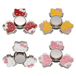 Wholesale Toy For Kids Beyblade - Cartoon Hand Spinner Hello Kitty Fidget Spinner Alloy Finger Toy Spinning Handspinner Toys For Autism ADHD Anti Stress Beyblade Toys