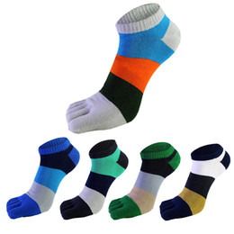 Wholesale Pure Cotton Socks Toes - 2017 new finger refers to the comfort of male socks toe pure cotton socks three color terms short tube split toe socks DHL free shipping