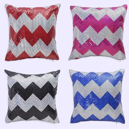Wholesale Fabric Sofas Sets - Shining Wave Two Color Sequins Pillowcase Office Sofa Cushion Sets Custom Household Mermaid Pillow Covers