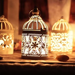 Wholesale Vintage Cup Holder - New arrival Decorative Moroccan Lantern Votive Candle Holder Hanging Lantern Vintage Candlesticks Home Decoration P17