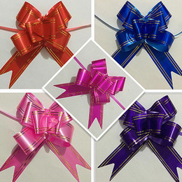 Wholesale Sheer Ribbon Wholesale - Wedding car sheer garland pull bows  Gift ribbon butterfly bow hand flower Birthday party supplies toys free shipping