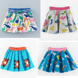Wholesale Geometric Skirts - 4 style BST 2017 hot selling NEW ARRIVAL Little Maven girls Kids 100% high quality Cotton cartoon print skirt causal summer skirt free ship